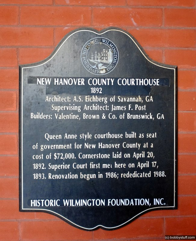 New Hanover County Courthouse In Wilmington North Carolina