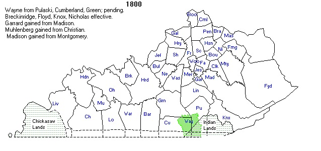 Ky County Formation Maps: County Map Kentucky At Slyspyder.com