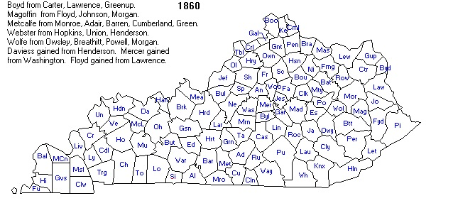 Ky County Formation Maps - County map of kentucky