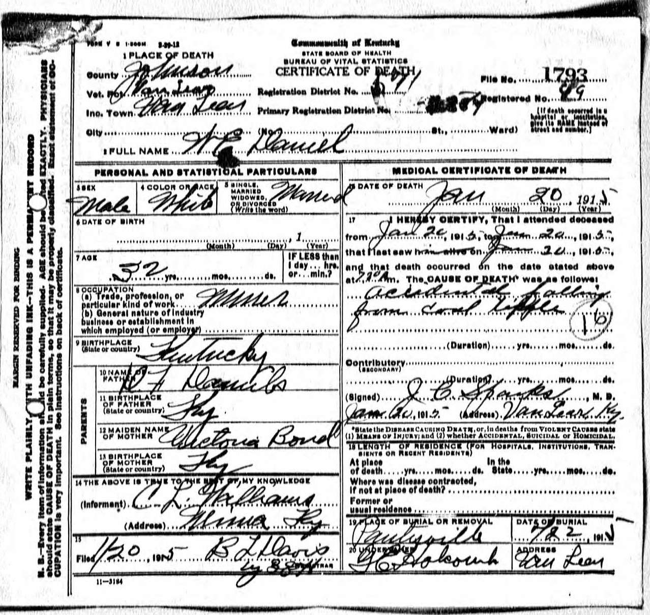 william e daniel and sarah cathern wright Thomas Edison Funeral maybe the later one was a corrected death certificate i don t know